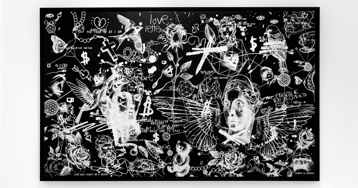 All i ever wanted was everything black white 2018 artworks joseph klibansky