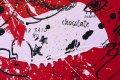 She Came To Break Hearts (red/black, pink and gold splash), 2020 by Joseph Klibansky