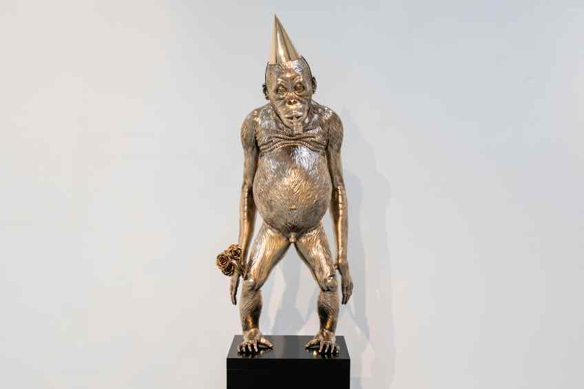 Birthday Suit (bronze), 2019 by Joseph Klibansky