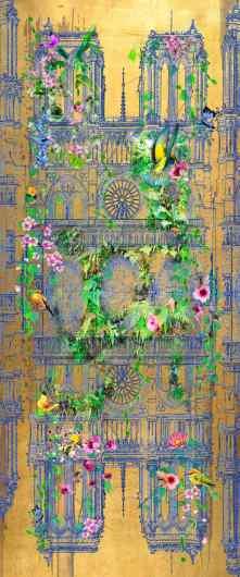 Without frame - Notre Dame (gold), 2015 by Joseph Klibansky
