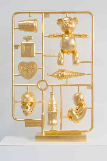Elements of Desire (stereolithography, gold leaf), 2013 by Joseph Klibansky