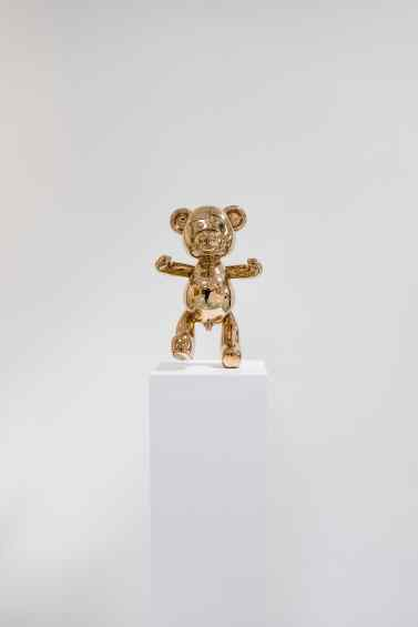 Small Bare Hug - Bare Hug (polished bronze), 2016 by Joseph Klibansky