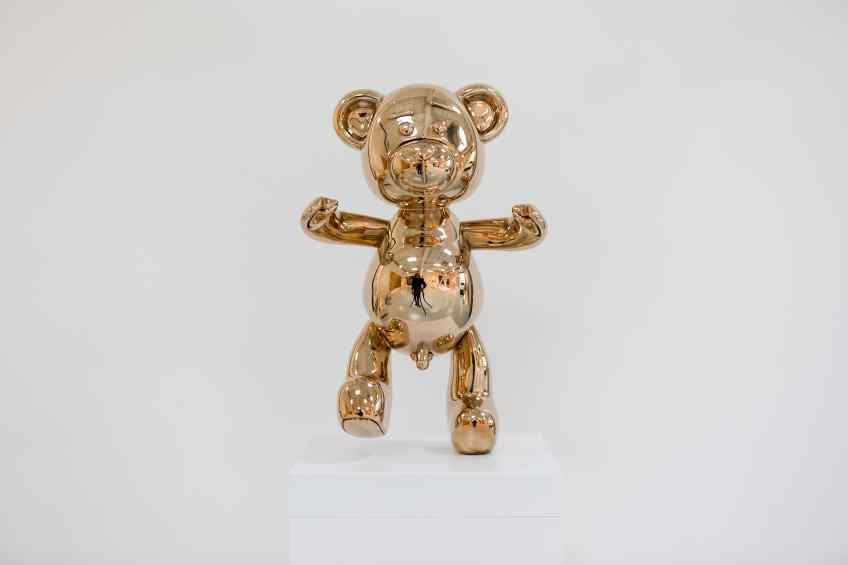 Small Bare Hug - Bare Hug (polished bronze), 2016 by Joseph Klibansky