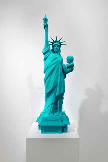 Velvet Revolution (stereolithography, pigment paint, turquoise), 2015 by Joseph Klibansky