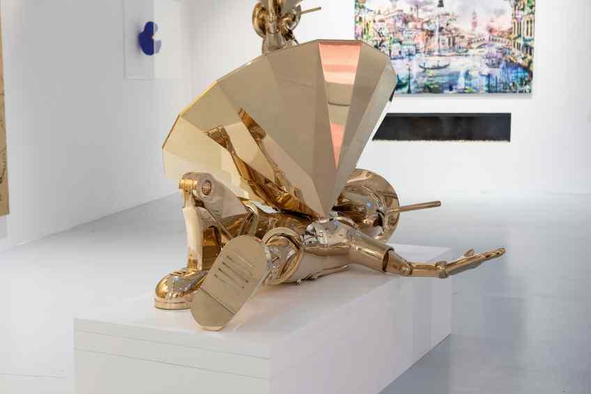 Reflections of Truth III (polished bronze), 2019 by Joseph Klibansky