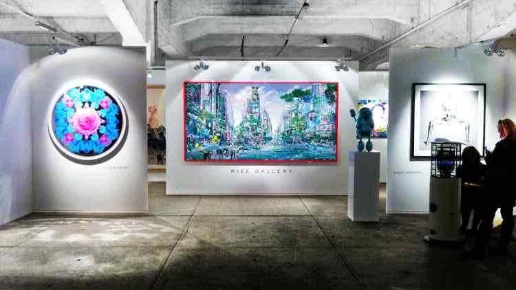 """Museum size """"Garden of Evolution"""" @ Art Warehouse art fair"""