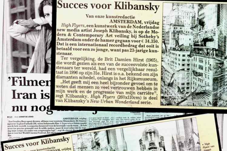 De Telegraaf - Success for Klibansky - Arts & Culture