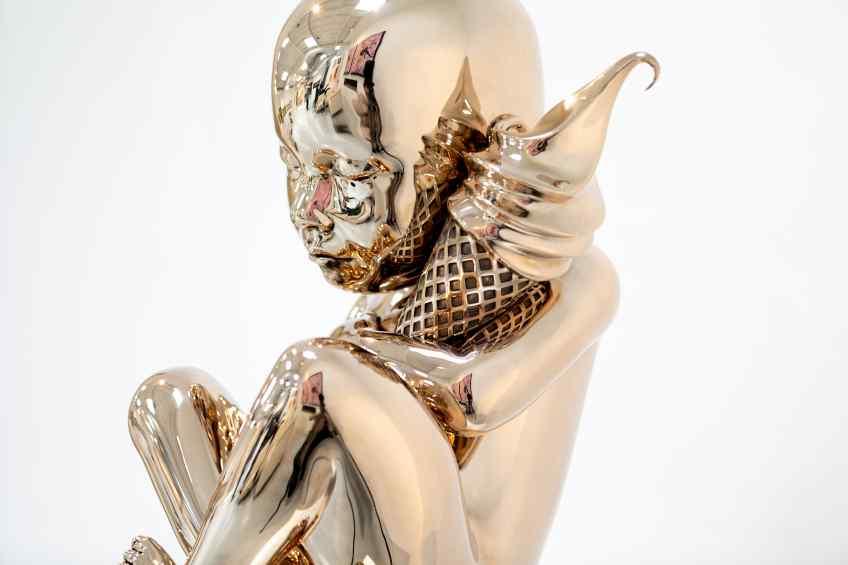To The Moon and Back (polished bronze), 2021 by Joseph Klibansky