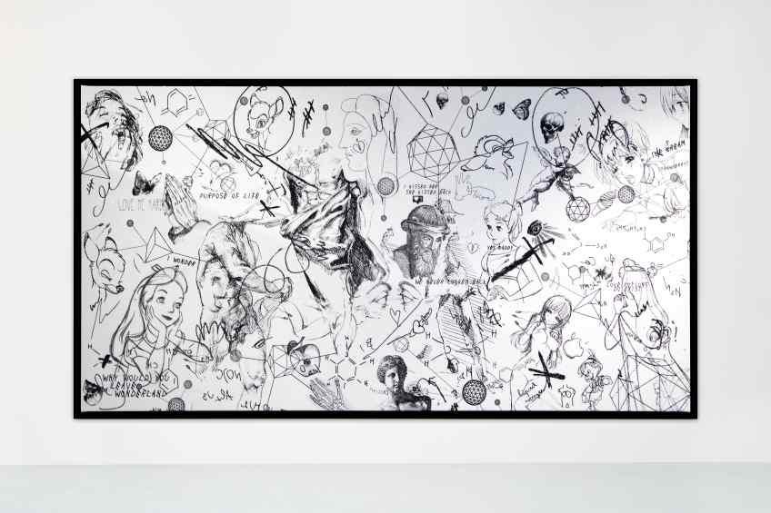 Love Me Harder (white/black, diamond dust), 2018 by Joseph Klibansky