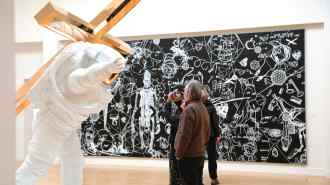 "Walkthrough of Joseph Klibansky's ""Leap of Faith"" in Museum de Fundatie"