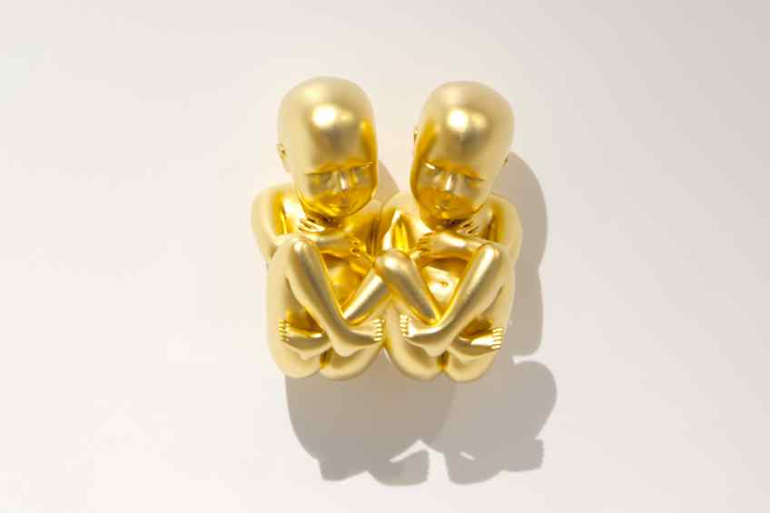 Close-up gold leaf twins - Parallel Universe, 2014 by Joseph Klibansky
