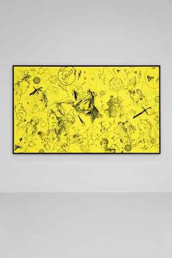 Love Me Harder (yellow/black), 2017 by Joseph Klibansky