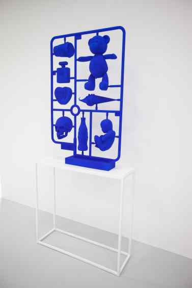 Elements of Desire (stereolithography, pigment paint, blue), 2013 by Joseph Klibansky