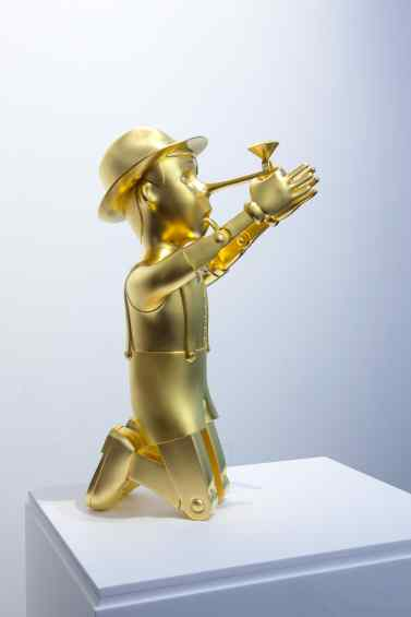 Reflections of Truth (stereolithography, gold leaf), 2012 by Joseph Klibansky