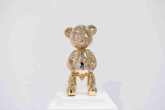Pipi Bear (polished solid bronze), 2020 by Joseph Klibansky