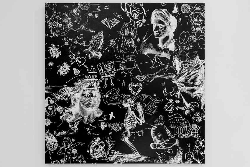 On The Edge Of Something Beautiful (black/white), 2017 by Joseph Klibansky