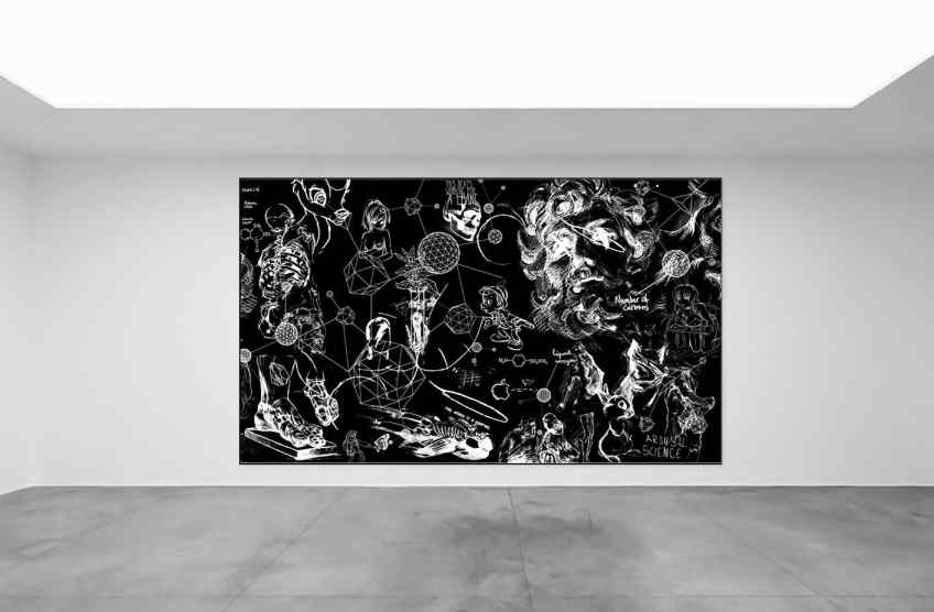 Chemistry of Life (black/white), 2018 by Joseph Klibansky
