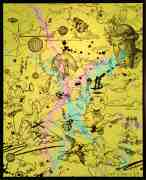 Take Me To Paradise (yellow/black, pink and turquoise splash), 2019 by Joseph Klibansky
