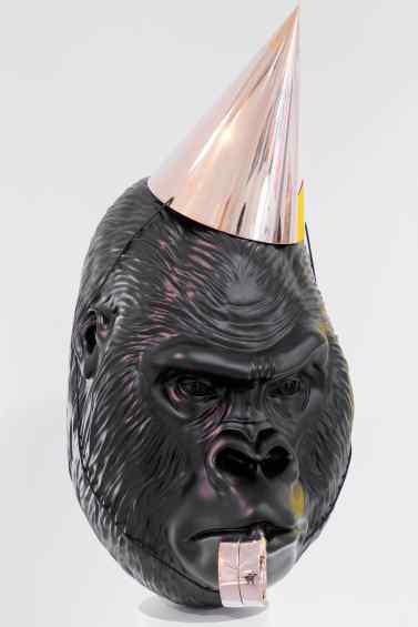 Big Bang (painted bronze, black), 2016 by Joseph Klibansky