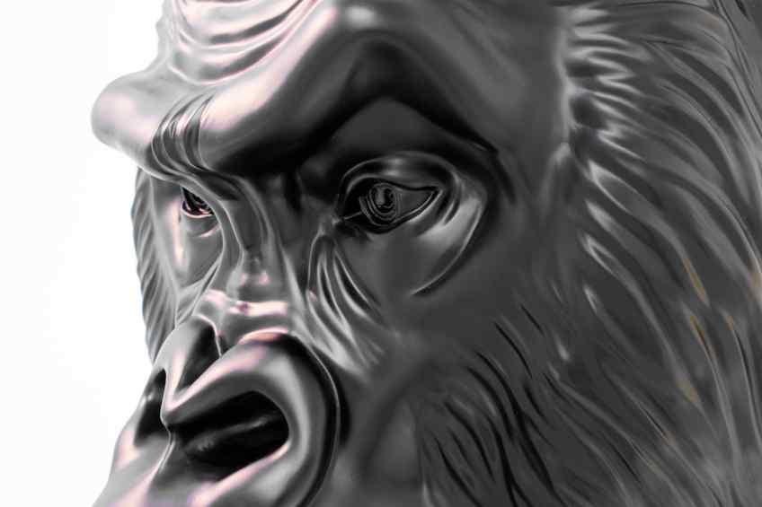 Close-up of eye - Big Bang (painted bronze, black), 2016 by Joseph Klibansky