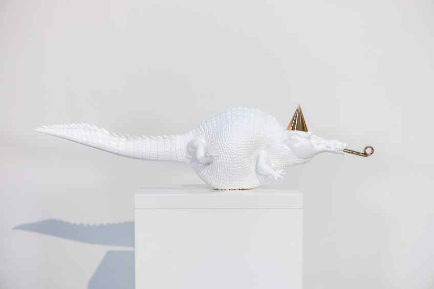 Happily Ever After (painted bronze, white), 2020 by Joseph Klibansky