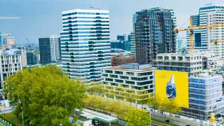 "700 m² Artwork of Big Bang on ""Gershwin Bothers"" building on Zuidas Amsterdam"