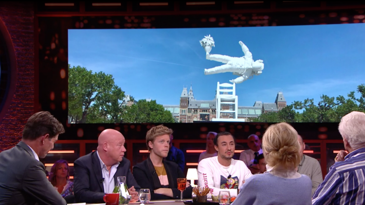 RTL Late Night (Dutch) TV Show: Klibansky's Art Taking Over The World