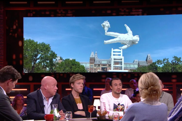 RTL Late Night (Dutch) TV Show: Klibansky's Art Taking Over The World