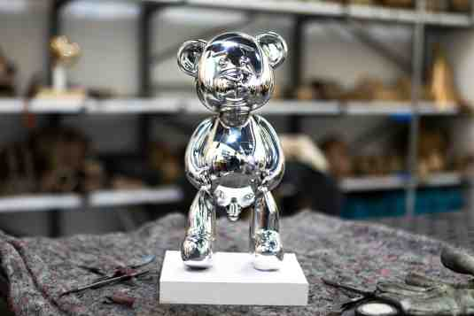 Pipi Bear (polished solid aluminium), 2017 by Joseph Klibansky