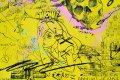 Feeling My Way Through The Darkness (yellow/black, pastel pink and turquoise splash), 2018 by Joseph Klibansky