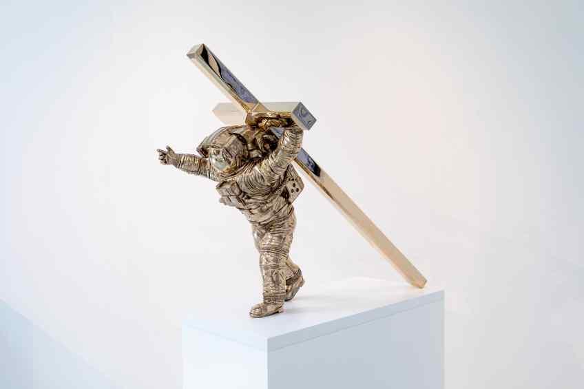 Leap of Faith (bronze), 2016 by Joseph Klibansky
