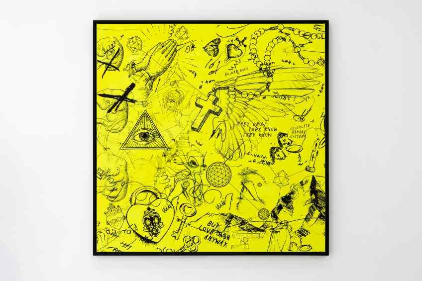 I Love Her Anyway (yellow/black), 2018 by Joseph Klibansky