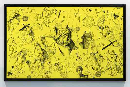 Love Me Harder (edition, yellow/black), 2016 by Joseph Klibansky