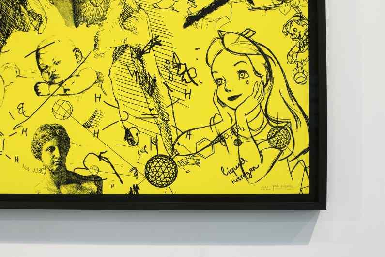 Love Me Harder (edition, yellow/black), 2017 by Joseph Klibansky