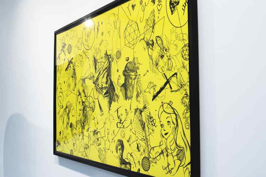 Love Me Harder (edition, yellow/black), 2017 by Joseph Klibansky
