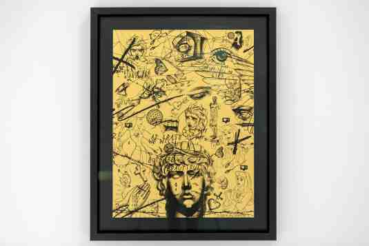 At Least We Will Both Be Beautiful (edition, gold/black), 2017 by Joseph Klibansky