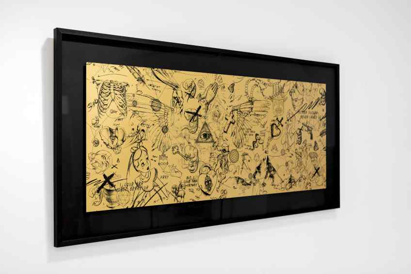 Guided by Angels (edition, gold/black), 2017 by Joseph Klibansky