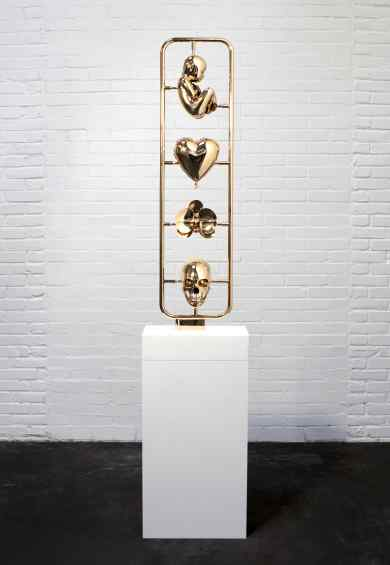 Elements of Life (polished bronze), 2013 by Joseph Klibansky