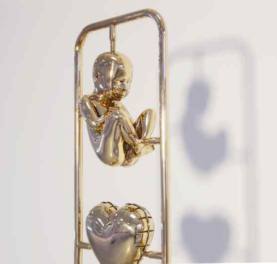 Elements of Life (polished bronze), 2013 by Joseph Klibansky