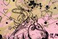 All of Me (pastel pink/black, gold splash), 2021 by Joseph Klibansky