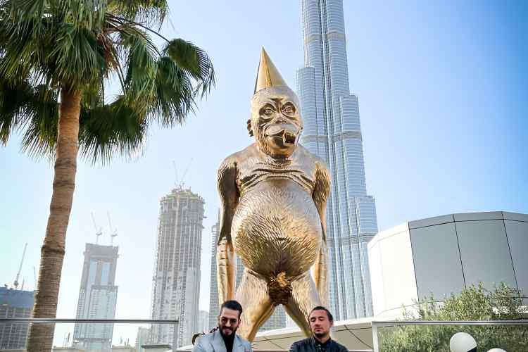 Birthday Suit in front of Burj Khalifa, Dubai, UAE