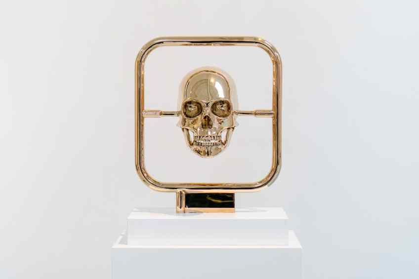 Element of Immortality (polished bronze), 2018 by Joseph Klibansky