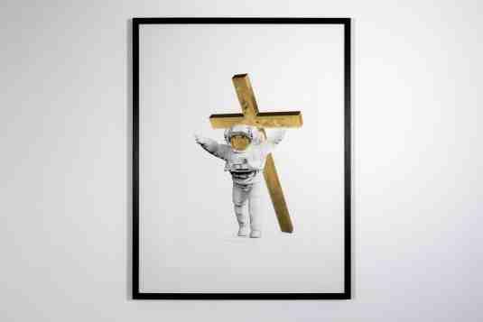 Leap of Faith (edition, gold leaf), 2019 by Joseph Klibansky
