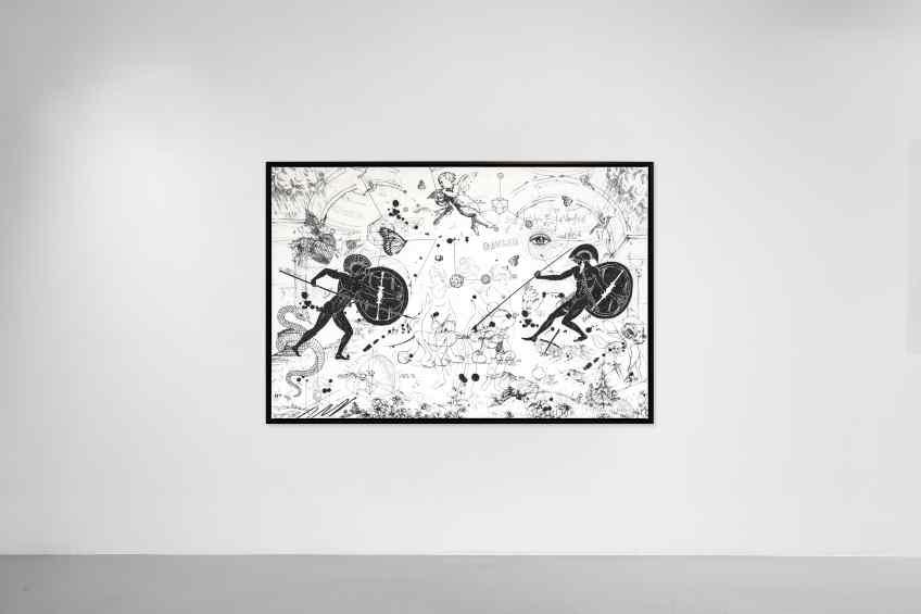 Can We Kiss Forever (white/black, diamond dust), 2020 by Joseph Klibansky