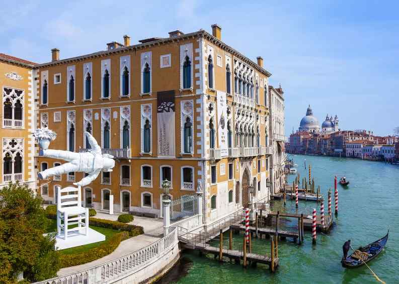 Installation view in the garden of Palazzo Francetti along the Grand Canal in Venice Italy. - Self Portrait of a Dreamer, 2016 by Joseph Klibansky