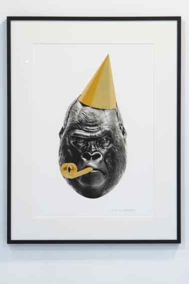 A picture of the small Big Bang screen print - Big Bang (edition, black/gold leaf), 2016 by Joseph Klibansky