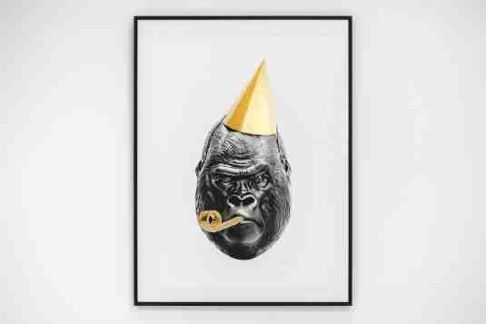 Big Bang (edition, black/gold leaf), 2016 by Joseph Klibansky