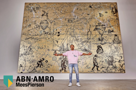 Klibansky creates massive painting for ABN Amro MeesPierson Private Banking 300 year anniversary