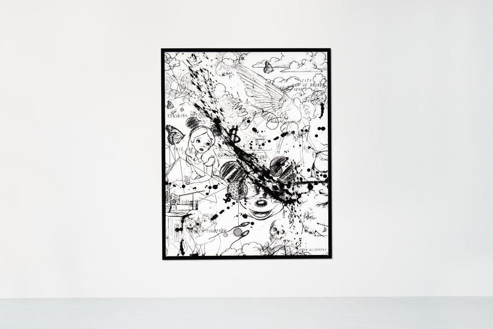 feda54534c94a Caught Up In A Dream (white/black, diamond dust), 2018 | Artworks | Joseph  Klibansky