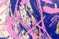 All of Me (gold/pink, ultramarine splash), 2021 by Joseph Klibansky